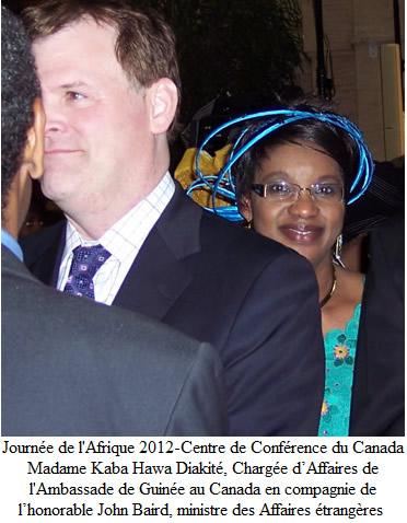 ministre Baird et Mme Diakite